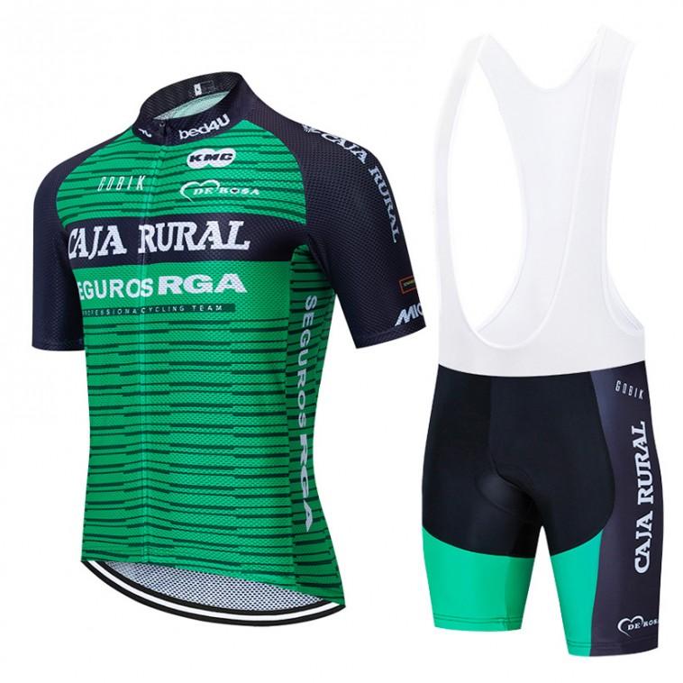 Ensemble cuissard vélo et maillot cyclisme équipe pro CAJA RURAL 2019 Aero Mesh