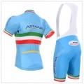 Ensemble cuissard vélo et maillot cyclisme équipe pro Astana