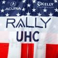 Ensemble cuissard vélo et maillot cyclisme équipe pro RALLY UHC USA 2020 Aero Mesh