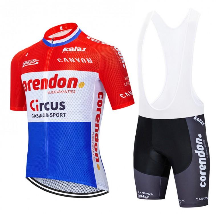 Ensemble cuissard vélo et maillot cyclisme équipe pro CORENDON CIRCUS 2020 Aero Mesh LE