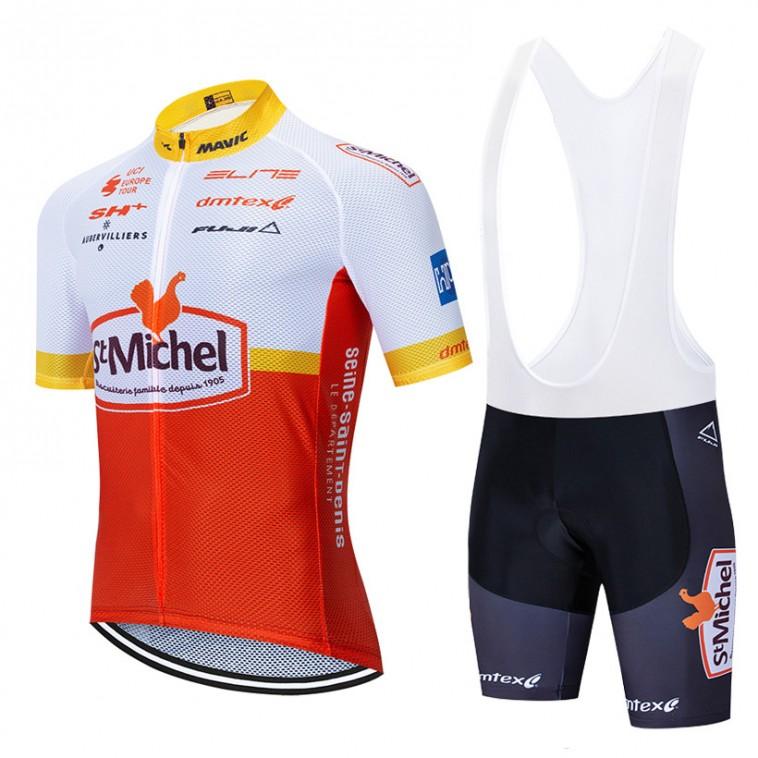 Ensemble cuissard vélo et maillot cyclisme équipe pro ST MICHEL - AUBER 93 2020 Aero Mesh