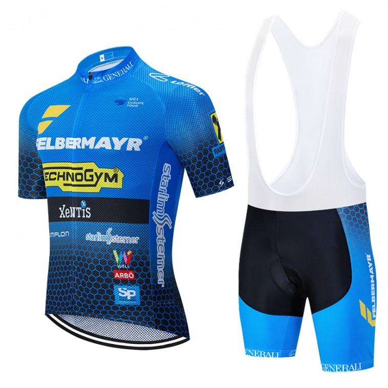 Ensemble cuissard vélo et maillot cyclisme équipe pro FELBERMAYR 2019 Aero Mesh