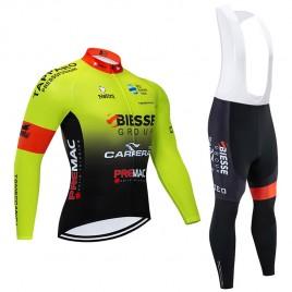 Ensemble cuissard vélo et maillot cyclisme hiver pro BIESSE CARRERA 2020