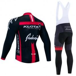 Ensemble cuissard vélo et maillot cyclisme hiver pro KUOTA 2020