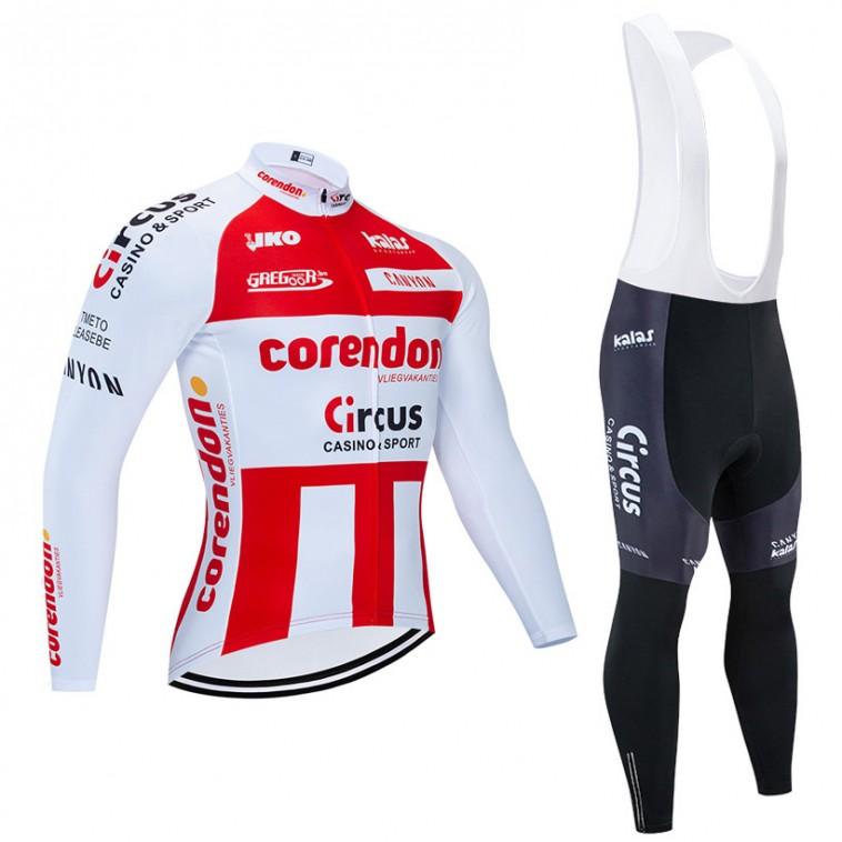 Ensemble cuissard vélo et maillot cyclisme hiver pro CORENDON CIRCUS 2020