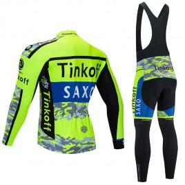 Ensemble cuissard vélo et maillot cyclisme hiver pro TINKOFF SAXO 2020