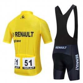 Ensemble cuissard vélo et maillot cyclisme pro vintage RENAULT GITANE Aero Mesh