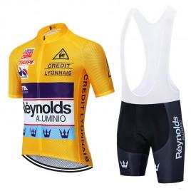 Ensemble cuissard vélo et maillot cyclisme pro vintage REYNOLDS jaune Aero Mesh