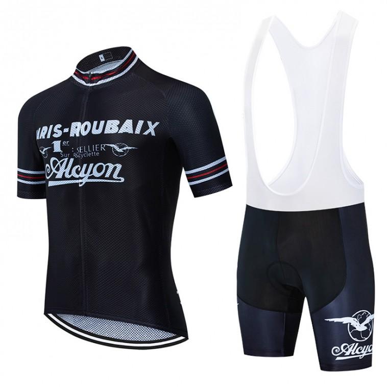 Ensemble cuissard vélo et maillot cyclisme pro vintage PARIS ROUBEAIX ALCYON Aero Mesh