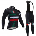 Ensemble cuissard vélo et maillot cyclisme hiver pro Tour d'Italie 2020