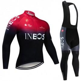 Ensemble cuissard vélo et maillot cyclisme hiver pro INEOS 2019