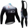 Ensemble cuissard vélo et maillot cyclisme hiver pro INEOS 2019 BW