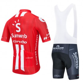 Ensemble cuissard vélo et maillot cyclisme équipe pro SUNWEB 2020 Aero Mesh
