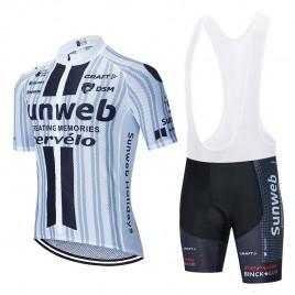 Ensemble cuissard vélo et maillot cyclisme équipe pro SUNWEB 2020 Aero Mesh WE