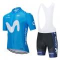 Ensemble cuissard vélo et maillot cyclisme équipe pro MOVISTAR 2020 Aero Mesh