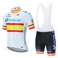 Ensemble cuissard vélo et maillot cyclisme équipe pro MOVISTAR World Tour 2020 Aero Mesh