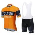 Ensemble cuissard vélo et maillot cyclisme pro vintage MOLTENI Aero Mesh Orange