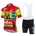 Ensemble cuissard vélo et maillot cyclisme pro vintage GIS Aero Mesh