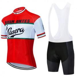 Ensemble cuissard vélo et maillot cyclisme pro vintage CASERA Aero Mesh