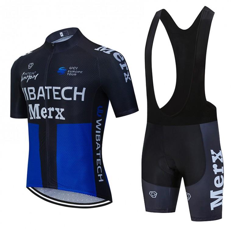 Ensemble cuissard vélo et maillot cyclisme équipe pro WIBATECH MERX 2019 Aero Mesh