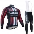 Ensemble cuissard vélo et maillot cyclisme hiver pro SUNWEB 2020 BE