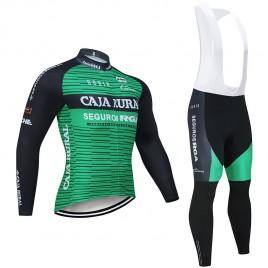Ensemble cuissard vélo et maillot cyclisme hiver pro CAJA RURAL 2019