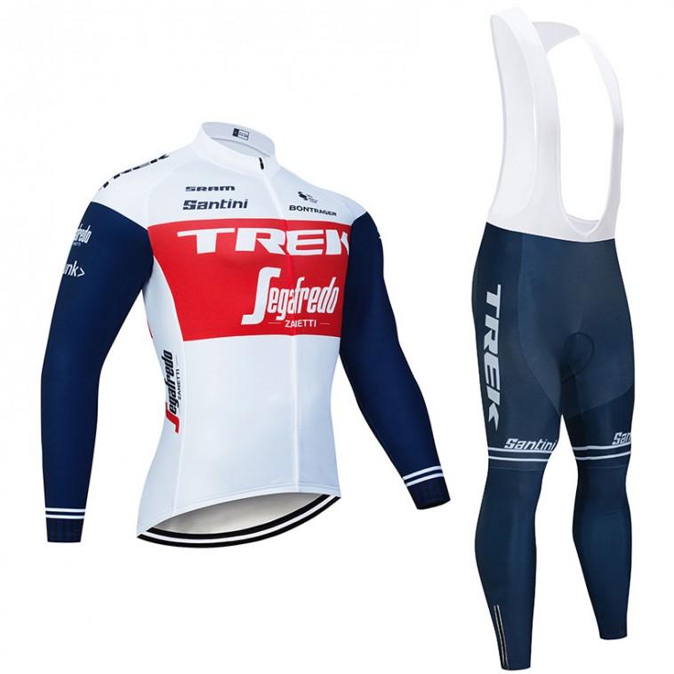 Ensemble cuissard vélo et maillot cyclisme hiver pro TREK Segafredo 2020