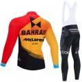 Ensemble cuissard vélo et maillot cyclisme hiver pro BAHRAIN Merida 2020