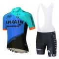 Ensemble cuissard vélo et maillot cyclisme équipe pro BAHRAIN Merida 2020 Aero Mesh Blue
