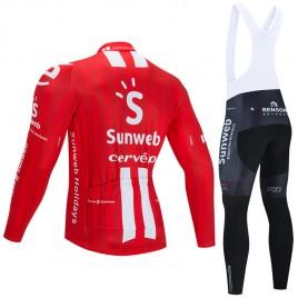 Ensemble cuissard vélo et maillot cyclisme hiver pro SUNWEB 2020