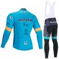 Ensemble cuissard vélo et maillot cyclisme hiver pro ASTANA 2020