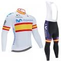 Ensemble cuissard vélo et maillot cyclisme hiver pro MOVISTAR World Tour 2020