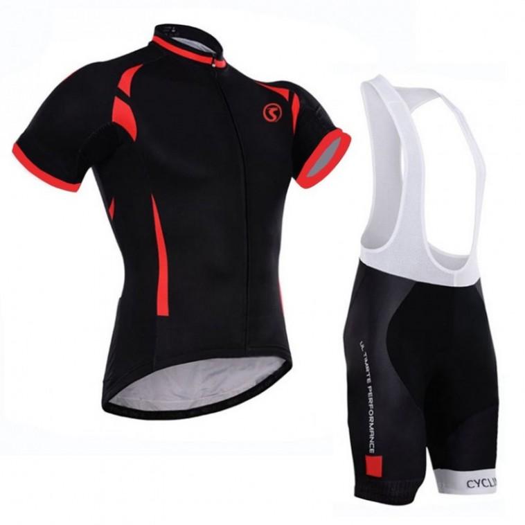 Ensemble cuissard vélo et maillot cyclisme Rosso Corsa