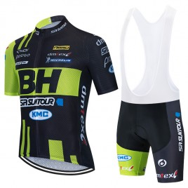 Ensemble cuissard vélo et maillot cyclisme équipe pro BH SR Suntour KMC 2020 Aero Mesh