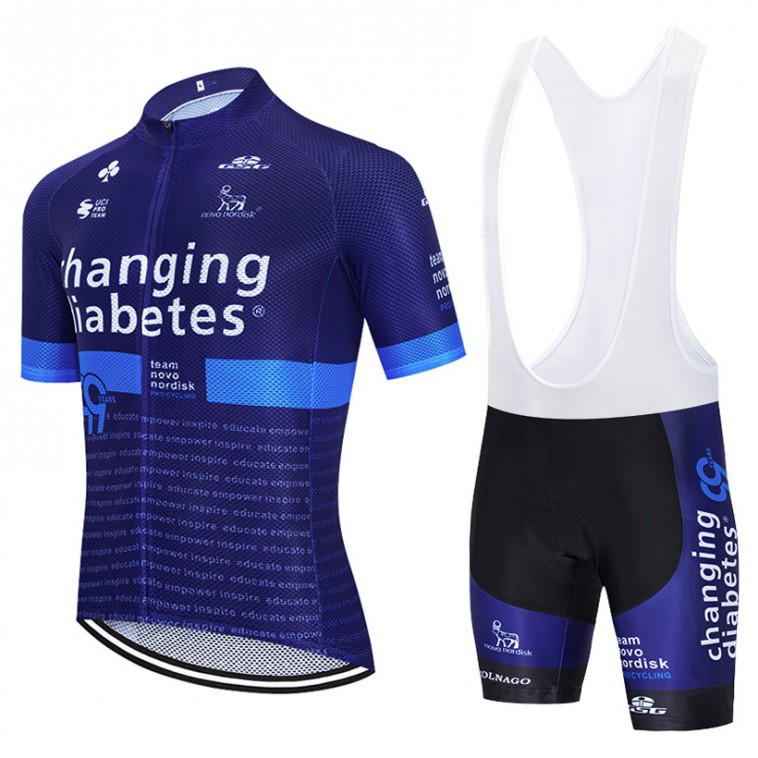 Ensemble cuissard vélo et maillot cyclisme équipe pro Novo Nordisk Diabetes 2020 Aero Mesh