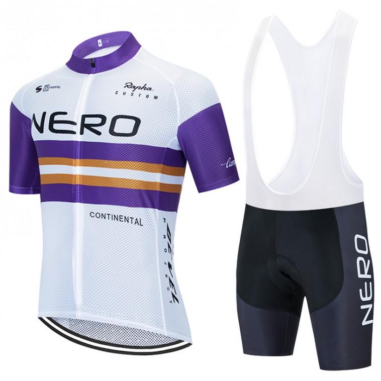 Ensemble cuissard vélo et maillot cyclisme équipe pro NERO Continental 2020 Aero Mesh