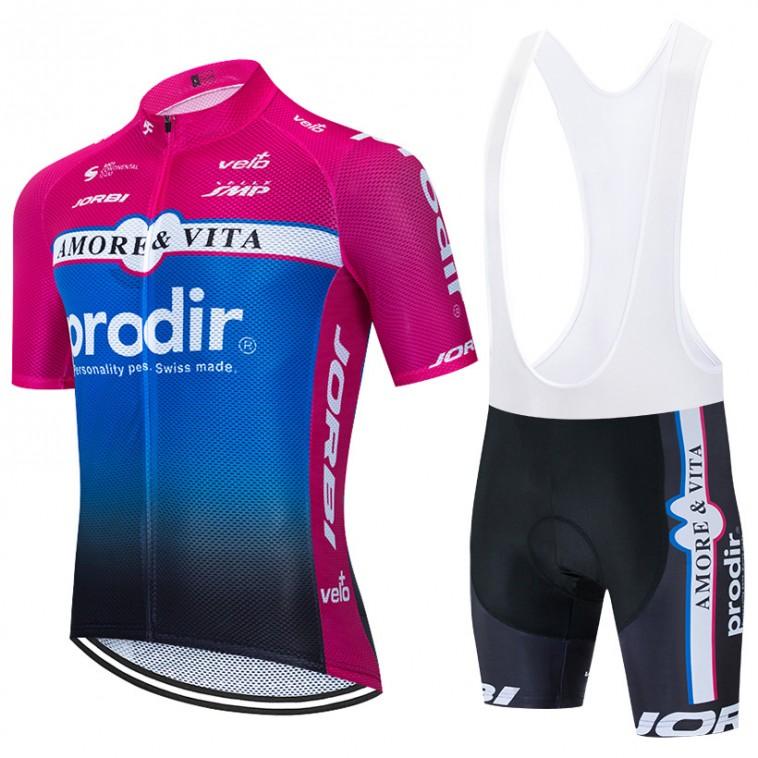 Ensemble cuissard vélo et maillot cyclisme équipe pro Amore & Vita - Prodir 2020 Aero Mesh