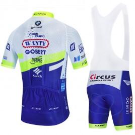 Ensemble cuissard vélo et maillot cyclisme équipe pro WANTY Gobert 2020 Aero Mesh
