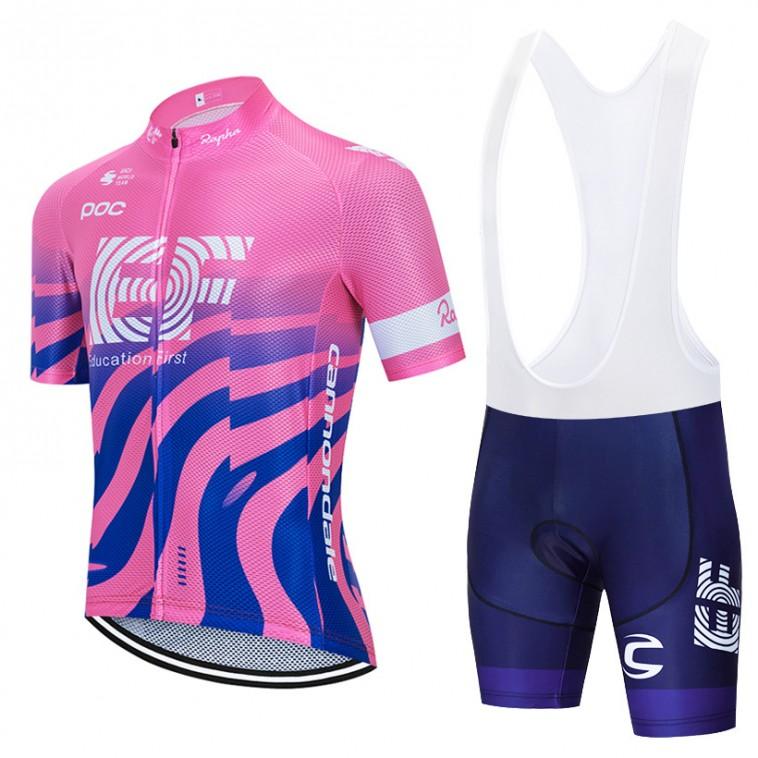 Ensemble cuissard vélo et maillot cyclisme équipe pro EF Education First 2020 Aero Mesh