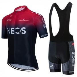 Ensemble cuissard vélo et maillot cyclisme équipe pro INEOS 2020 Aero Mesh