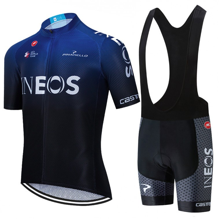 Ensemble cuissard vélo et maillot cyclisme équipe pro INEOS 2020 Aero Mesh Blue Edition