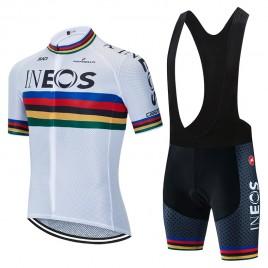 Ensemble cuissard vélo et maillot cyclisme équipe pro INEOS 2020 Aero Mesh UCI