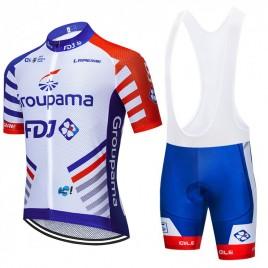 Ensemble cuissard vélo et maillot cyclisme équipe pro Groupama FDJ 2020 Aero Mesh