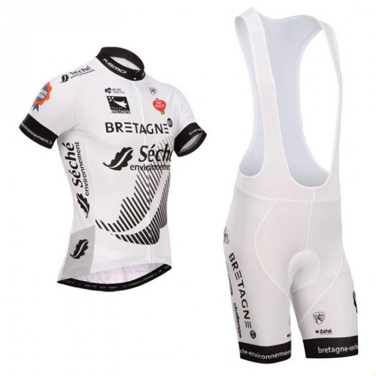 Ensemble cuissard vélo et maillot cyclisme équipe pro Bretagne Séché Environnement