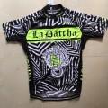 Ensemble cuissard vélo et maillot cyclisme équipe pro Tinkoff La Datcha