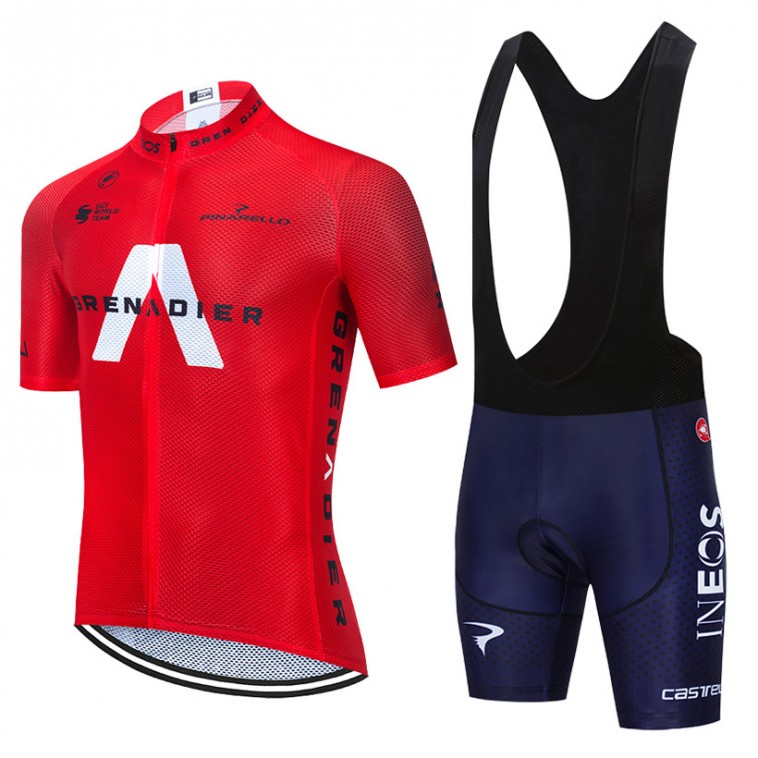 Ensemble cuissard vélo et maillot cyclisme équipe pro INEOS GRENADIERS 2020 Aero Mesh Rouge