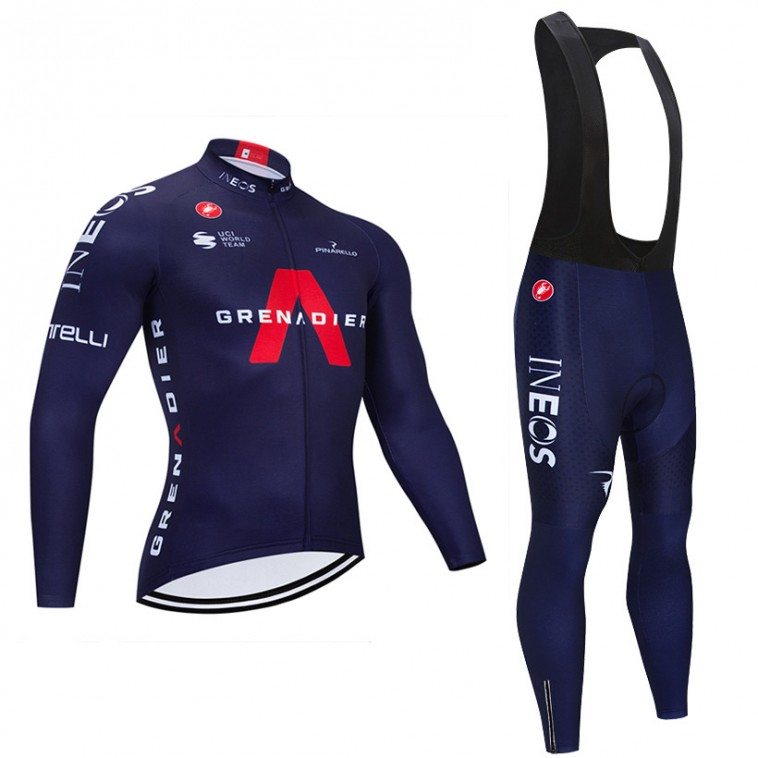 Ensemble cuissard vélo et maillot cyclisme hiver pro INEOS GRENADIERS 2020