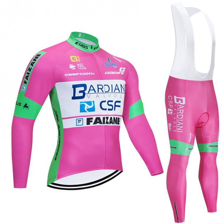 Ensemble cuissard vélo et maillot cyclisme hiver pro BARDIANI CSF 2020