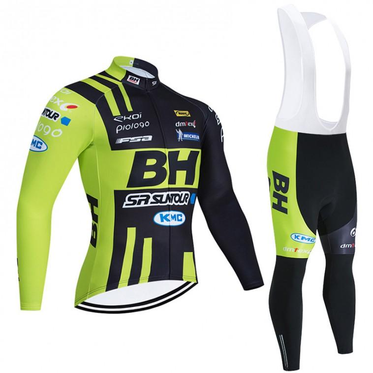Ensemble cuissard vélo et maillot cyclisme hiver pro BH SR Suntour KMC 2020