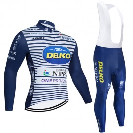 Ensemble cuissard vélo et maillot cyclisme hiver pro DELKO NIPPO 2020